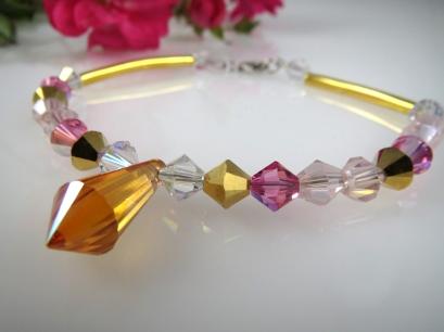 bracelet prisme rose