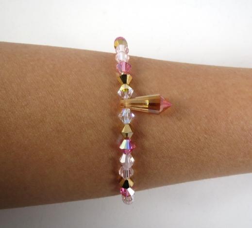 bracelet prisme rose2
