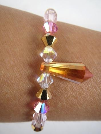 bracelet prisme rose3