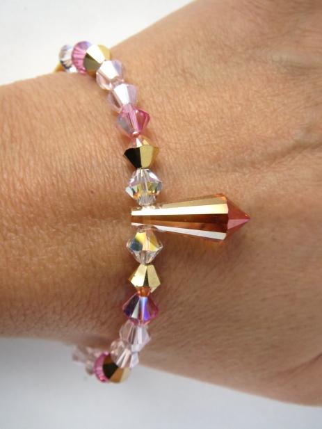 bracelet prisme rose4